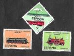Sellos de Europa - España -  Edf 2670-2672 - XXIII Congreso Internacional del Ferrocarril