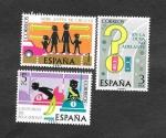 Sellos de Europa - España -  Edf 2312-2314 - Seguridad Vial