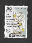 Stamps Spain -  Edf 2612 - Año Internacional de las Personas Disminuidas