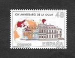 Stamps Spain -  Edf 2874 - XXV Aniversario de la OCDE