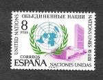 Stamps : Europe : Spain :  Edf 2004 - XXV Aniversario de la Fundación de las Naciones Unidas