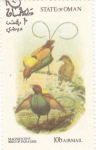 Stamps : Asia : Oman :  AVES DEL PARAISO