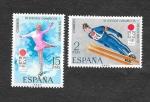 Sellos de Europa - España -  Edf 2074-2075 - XI JJOO de Invierno en Sapporo