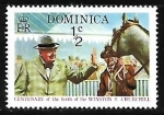 Stamps of the world : Dominica :  Churchill at Race Track