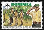 Stamps Dominica -  Boy Scout on hike