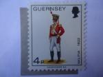 Stamps United Kingdom -  País Guernsey - Militar 1822