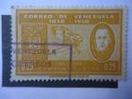 Sellos de America - Venezuela -  Don José Ignacio Paz Castillo-Primer Centenario de la Implantación del Sello de Correo,1858-1958