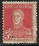 Stamps : America : Argentina :  Jose de San Martin