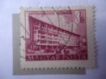Stamps : Europe : Hungary :  Plan Quinquenal en Budapet - Casa Central de los Trabajadores de la Construcción.