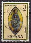 Sellos de Europa - España -  ESPAÑA 1975 2300 Sello Navidad La Virgen y el Niño retablo Santuario San Miguel Usado