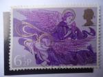Stamps : Europe : United_Kingdom :  Navidad 1975 - Ángeles con Arpa y Laúd