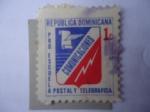 Stamps : America : Dominican_Republic :  Comunicaciones - Pro Escuelas-Emblema Oficina de Correos y Telégrafos.Postal y telégrafica