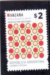 Stamps Argentina -  producto nacional- manzana