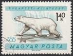 Sellos de Europa - Hungría -  1419 - Jardín zoológico de Budapest, oso polar