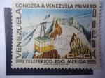 Stamps Venezuela -  Teleferico - Estado Merida - Conozca Primero a Venezuela.