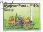 Stamps Hungary -  TREN LIVERPOOL-MANCHESTER