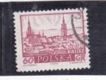 Stamps Poland -  panorámica de Kalisz