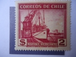 Stamps of the world : Chile :  Marina Mercante.