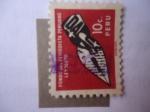 Stamps Peru -  Fondo del Periodista Peruano - Ley 16078 - Periodistas Profesionales.