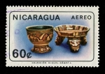 Stamps of the world : Nicaragua :  Arqueología Colección Miguel Gómez A.