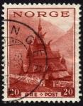 Sellos del Mundo : Europa : Noruega : COL- IGLESIA DE BORGUND
