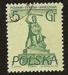 Stamps Poland -  Monumento a la sirena - Varsovia