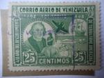 Sellos de America - Venezuela -  450 Años del Descubrimiento de Tierra Firme Americana 1492-1948