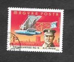 Stamps : Europe : Hungary :  C402 - 75º Aniversario del Primer Vuelo con Motor de los Hermanos Wright
