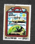 Sellos de Asia - Corea del norte -  2001 - 25 Aniversario del Vuelo de la Lufthansa