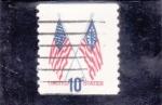 Sellos de America - Estados Unidos -  BANDERAS ESTADO UNIDENSES