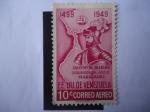 Sellos de America - Venezuela -  EE.UU. de Venezuela - Alonso de Ojeda- Descubridor del lago de Maracaibo - 450 Aniversario 1499-1949