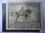 Stamps Venezuela -  EE.UU.de Venezuela - Simón Bolivar-traslado de la Estatua del Libertador en Nueva York 19 de Abril 1