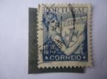 Stamps Portugal -  Lusiadas-epopeya en Verso (1572) Autor, Luis de camöes (1524/80)