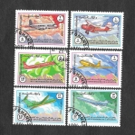 Stamps : Asia : Afghanistan :  1090-1095 - 40º Aniversario de la Aviación Civil Afgana