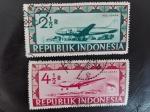 Stamps Indonesia -  Aviones
