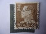 Stamps Denmark -  Rey federico IX - King Frederik IX (mirando a la izquierda)
