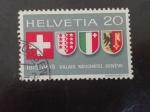 Stamps Switzerland -  Cantones
