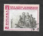 Sellos de Europa - Polonia -  25º Anviersario del Ejercito Popular Polaco (Pintura)