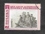 Sellos de Europa - Polonia -  1617 - 25º Anviersario del Ejercito Popular Polaco (Pintura)