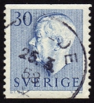 Stamps Europe - Sweden -  RES-Gustavo VI Adolfo