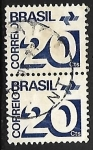 Sellos de America - Brasil -  Numeros