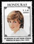 Sellos de America - Honduras -  Homenaje a la princesa Diana de Gales