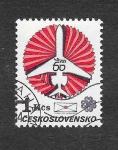 Stamps : Europe : Czechoslovakia :  2473 - 60ª Aniversario de las Líneas Aéreas Checoslovaquas