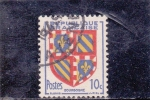 Stamps of the world : France :  ESCUDO DE BOURGOGNE