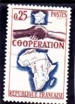 sello : Europa : Francia : COOPERACIÓN CON AFRICA