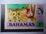 Sellos de America - Bahamas -  Mercado de Pajas