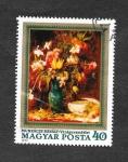 Stamps Hungary -  2478 - Flores de Pintores Húngaros