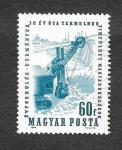Sellos de Europa - Hungría -  1582 - 30 Años de la Minería de Bauxita en Hungría