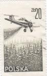 Stamps : Europe : Poland :  AVIONETA FUMIGANDO