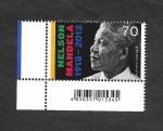 sello : Europa : Alemania : Centenario de Nelson Mandela